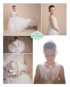 Miya's first communion portraits New England Photographer
