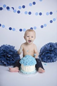 Zander First Birthday Cake Smash