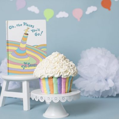 Bennett Turns One- Dr. Seuss Themed Cake Smash Session, RI & MA Cake Smash Photography
