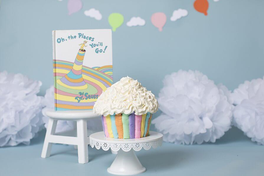 Strange Bennett Is One Dr Seuss First Birthday Cake Smash Session Personalised Birthday Cards Veneteletsinfo