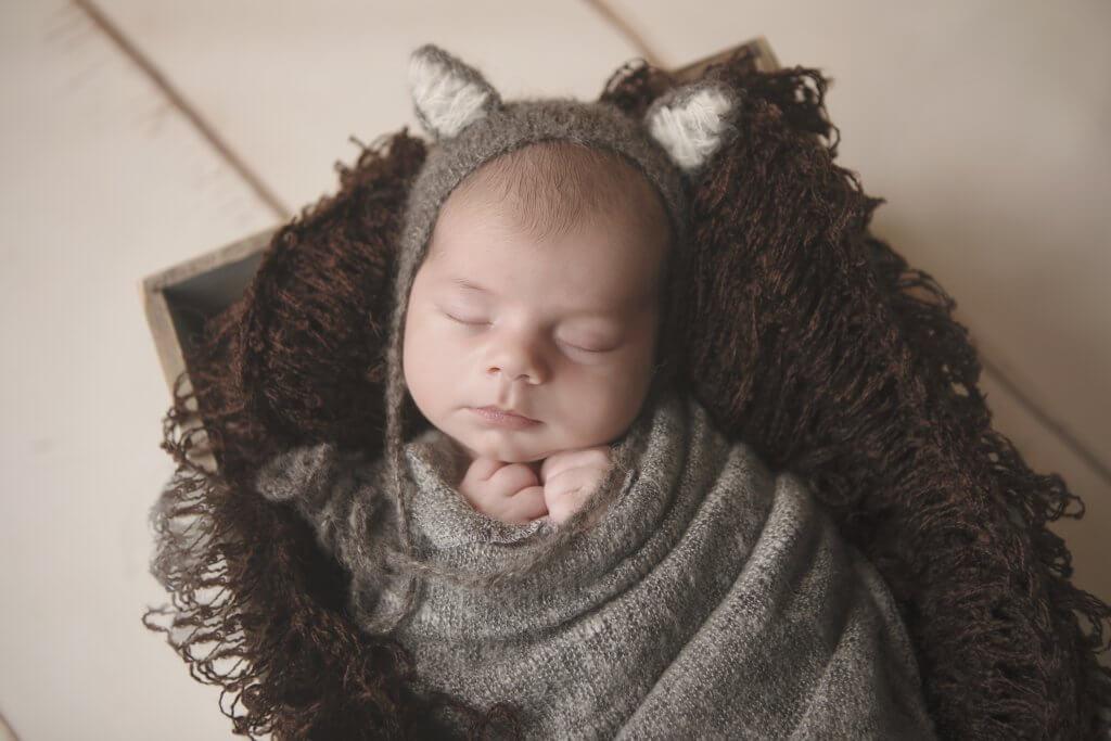 ma newborn photography adorable knit cap ears