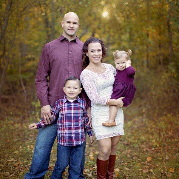 family lincoln woods portrait massachusetts